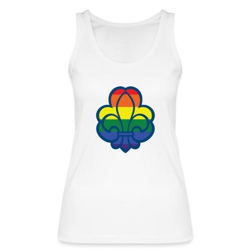 Regnbuespejder hvide t-shirts - Økologisk Stanley & Stella tanktop til damer