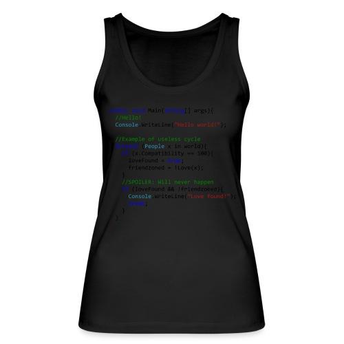 Love seen by a C# programmer - Top ecologico da donna di Stanley & Stella
