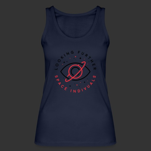 Space Individuals - Looking Further White - Women's Organic Tank Top by Stanley & Stella