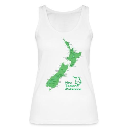 New Zealand's Map - Women's Organic Tank Top by Stanley & Stella