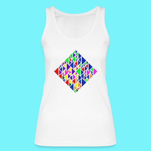 A square school of triangular coloured fish - Women's Organic Tank Top by Stanley & Stella
