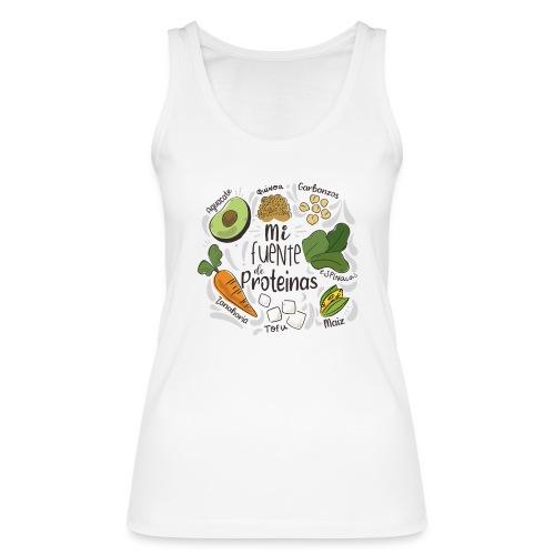 Mi fuente de proteinas - Camiseta de tirantes ecológica mujer de Stanley & Stella
