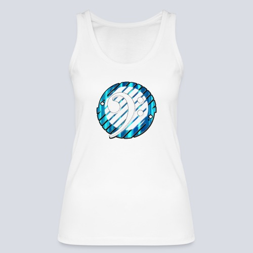 BassClef blue/white - Women's Organic Tank Top by Stanley & Stella