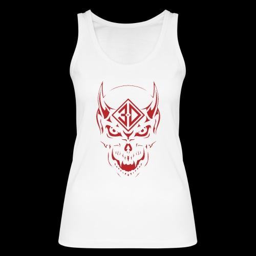 devil skull red - Débardeur bio Femme