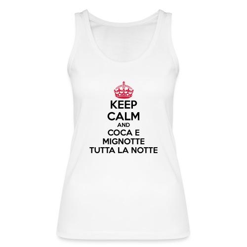 Coca e Mignotte Keep Calm - Top ecologico da donna di Stanley & Stella