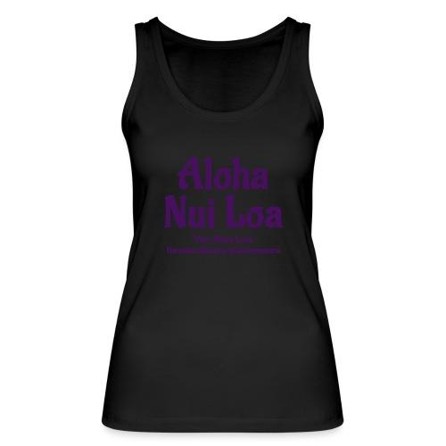 Aloha Nui Loa purple - Top ecologico da donna di Stanley & Stella