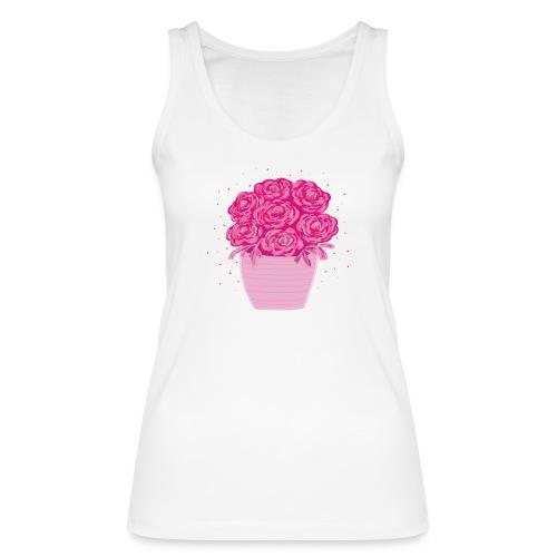 Ranunkeln, Blumen in Pink handgezeichnet - Frauen Bio Tank Top von Stanley & Stella