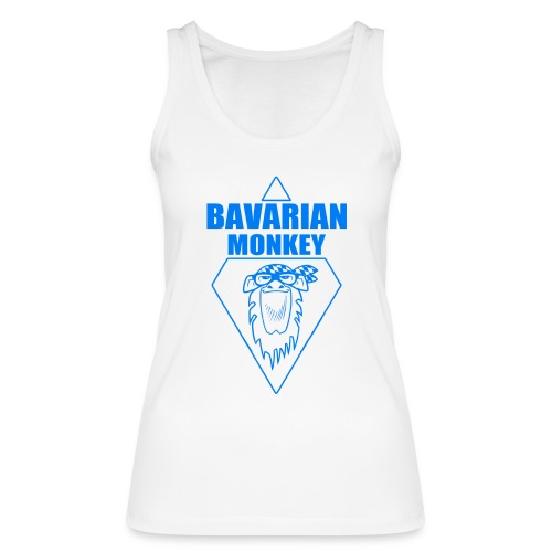 Bavarian Monkey Label blau - Frauen Bio Tank Top von Stanley & Stella