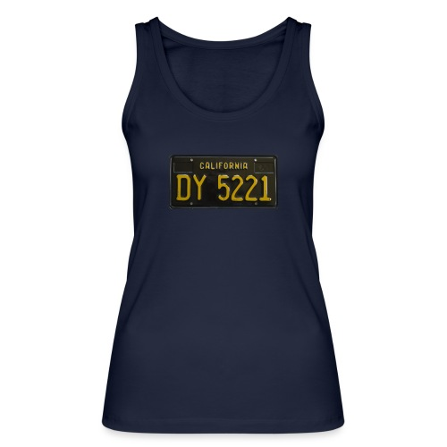 CALIFORNIA BLACK LICENCE PLATE - Women's Organic Tank Top by Stanley & Stella