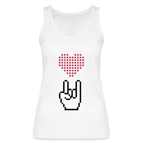 Pixel Love Rock - Frauen Bio Tank Top von Stanley & Stella