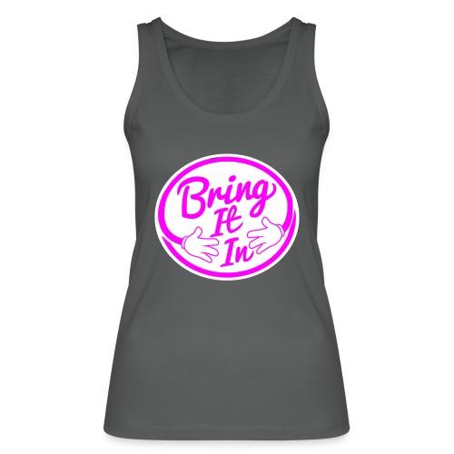 BII Pink font png - Women's Organic Tank Top by Stanley & Stella