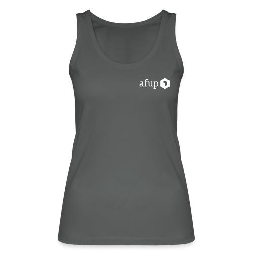Le logo AFUP en blanc - Débardeur bio Femme