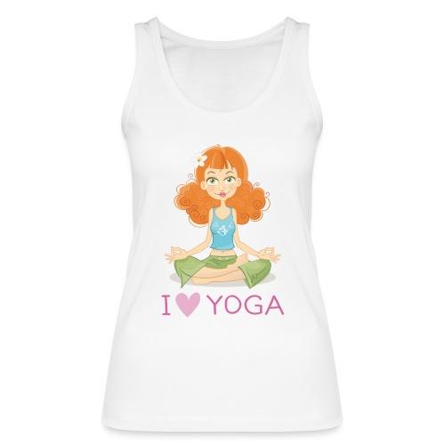 Yoga Lotus Pose Cartoon Girl - Frauen Bio Tank Top von Stanley & Stella