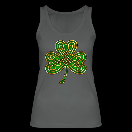Celtic Knotwork Shamrock - Women's Organic Tank Top by Stanley & Stella