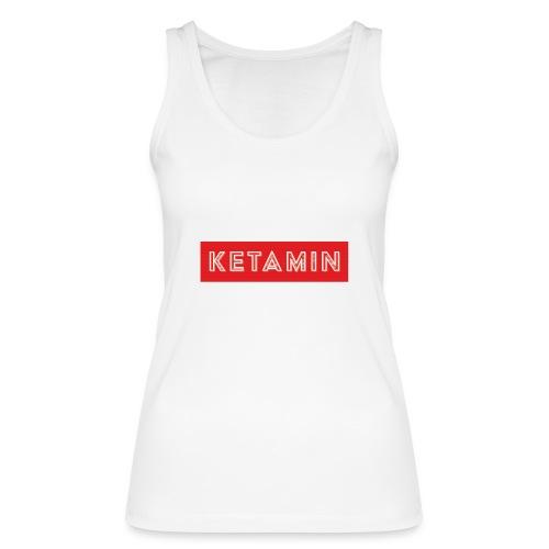 KETAMIN Rock Star - White/Red - Modern - Women's Organic Tank Top by Stanley & Stella