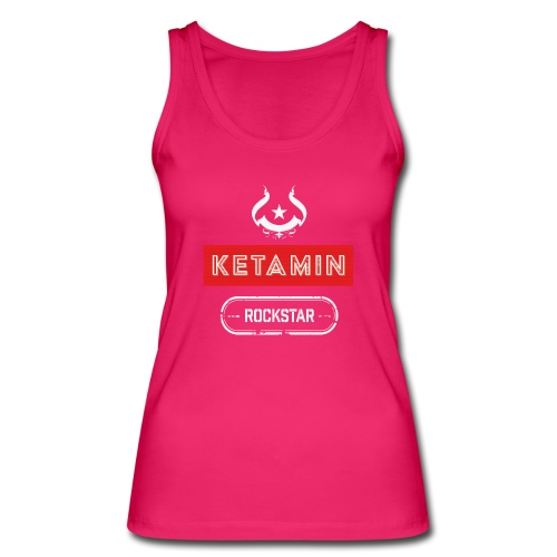 KETAMIN Rock Star - Weiß/Rot - Modern - Women's Organic Tank Top by Stanley & Stella