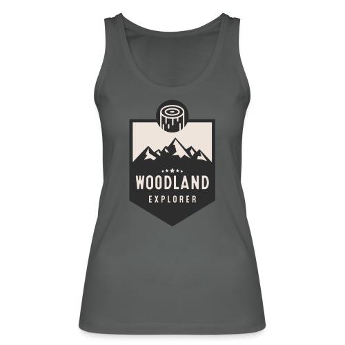 Woodland Explorer Crest - Women's Organic Tank Top by Stanley & Stella