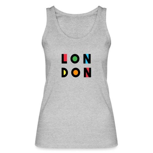 Vintage London Souvenir - Retro Modern Art London - Frauen Bio Tank Top von Stanley & Stella