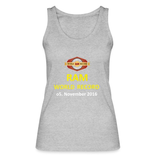 RWR gelb mit Datum (weiß) - Frauen Bio Tank Top von Stanley & Stella