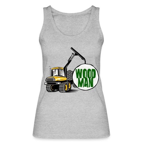 Woodman kuormatraktori, t paidat, hupparit, lahjat - Stanley & Stellan naisten luomutanktoppi