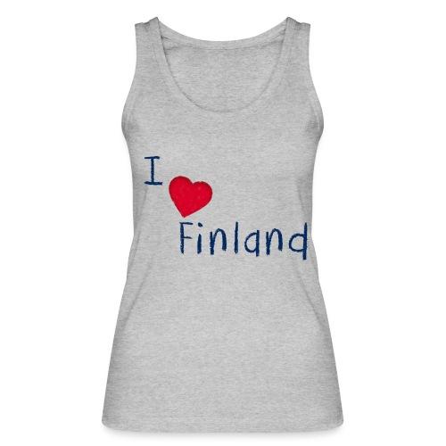 I Love Finland - Stanley & Stellan naisten luomutanktoppi