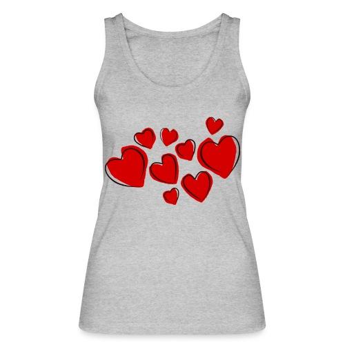 hearts herzen - Frauen Bio Tank Top von Stanley & Stella