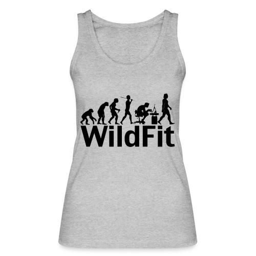 WildFit Logo Evolution in Schwarz - Frauen Bio Tank Top von Stanley & Stella
