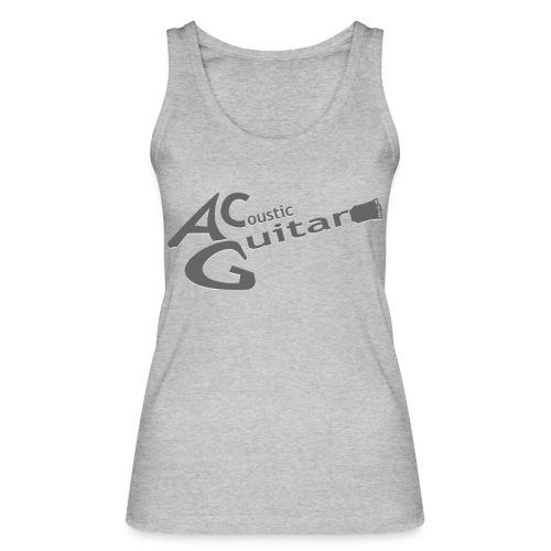 Acoustic Guitar Logo - Gray - Women's Organic Tank Top by Stanley & Stella
