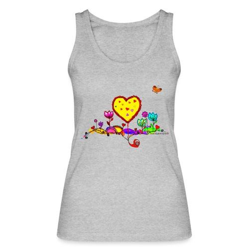 Blumengruß mit Herz - Frauen Bio Tank Top von Stanley & Stella