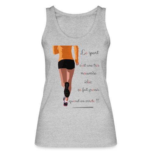 Sport et le régime - Débardeur bio Femme