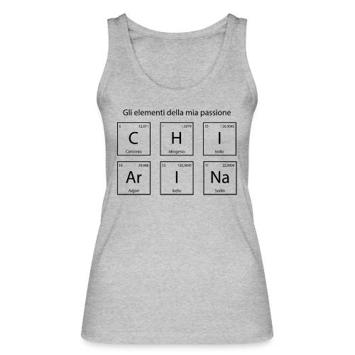 elementi chimici chiarina - Top ecologico da donna di Stanley & Stella