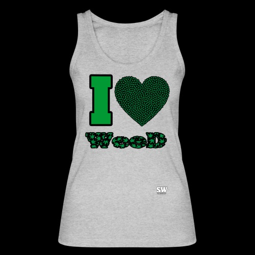I Love weed - Débardeur bio Femme