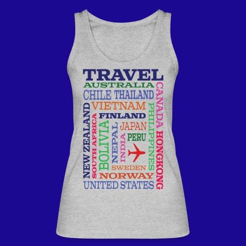 Travel Places design - Stanley & Stellan naisten luomutanktoppi