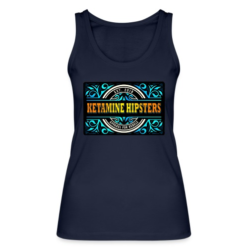 Black Vintage - KETAMINE HIPSTERS Apparel - Women's Organic Tank Top by Stanley & Stella