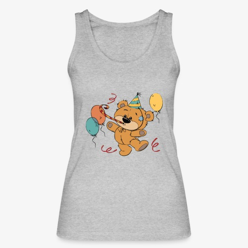 Little teddy bear at the party - Women's Organic Tank Top by Stanley & Stella