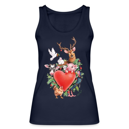 Christmas heart by Maria Tiqwah - Women's Organic Tank Top by Stanley & Stella
