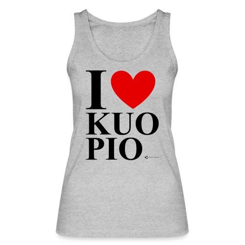 I LOVE KUOPIO ORIGINAL (musta) - Stanley & Stellan naisten luomutanktoppi