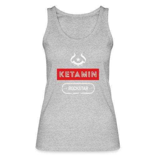 KETAMIN Rock Star - Weiß/Rot - Modern - Women's Organic Tank Top by Stanley & Stella