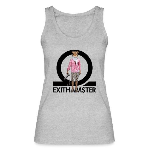 EXITHAMSTER LOGO WHITE BG - Women's Organic Tank Top by Stanley & Stella