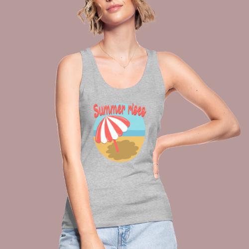 Summer rises parasol sur une plage / mer ciel été - Débardeur bio Femme
