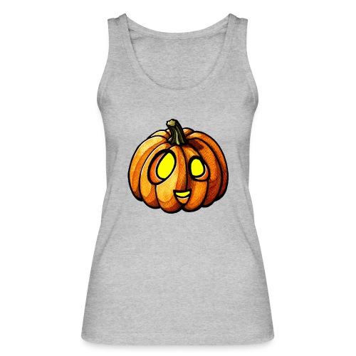 Pumpkin Halloween watercolor scribblesirii - Økologisk Stanley & Stella tanktop til damer