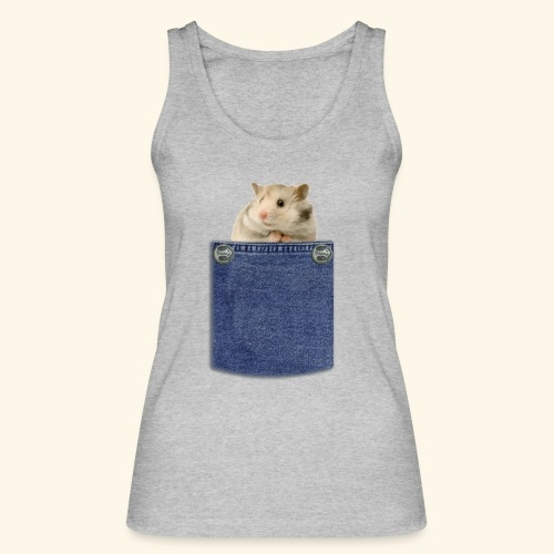 hamster in the poket - Top ecologico da donna di Stanley & Stella