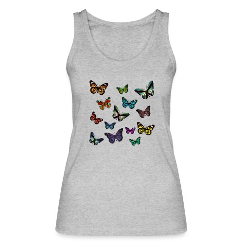 Butterflies flying - Ekologisk tanktopp dam från Stanley & Stella