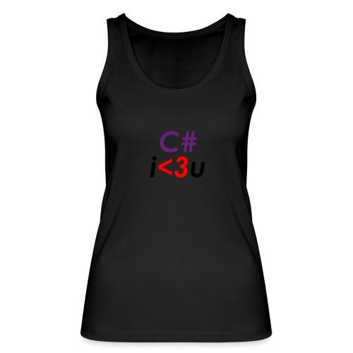 C# is love - Top ecologico da donna di Stanley & Stella