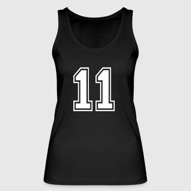 11 - AMERICAN FOOTBALL - jersey shirt design - Vrouwen bio tanktop van Stanley & Stella