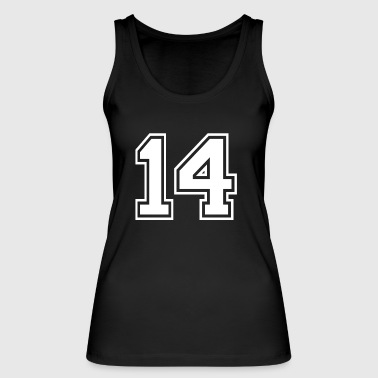 14 - AMERICAN FOOTBALL - jersey shirt design - Vrouwen bio tanktop van Stanley & Stella