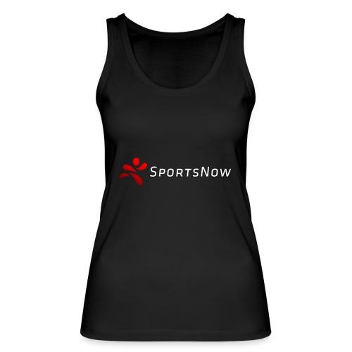 SportsNow-Logo mit weisser Schrift - Frauen Bio Tank Top von Stanley & Stella