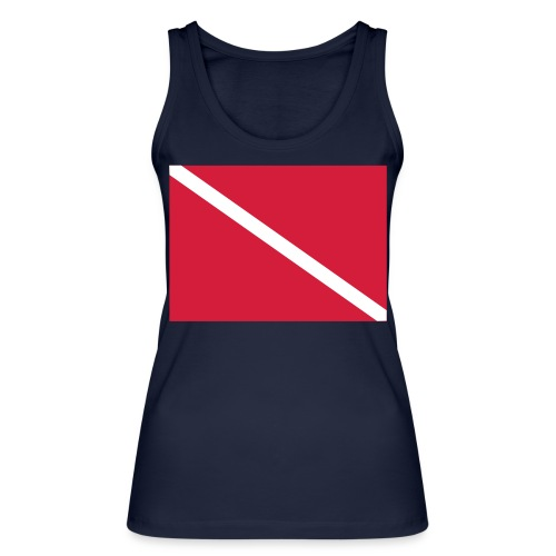 Diver Flag - Women's Organic Tank Top by Stanley & Stella