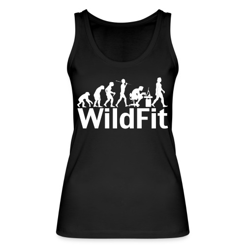 WildFit Logo Evolution Weiß - Frauen Bio Tank Top von Stanley & Stella
