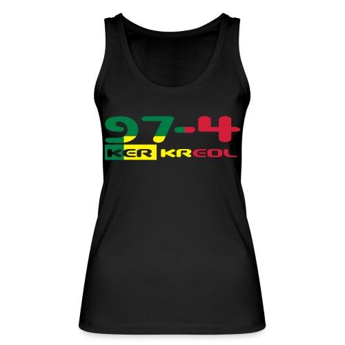 Design 974 ker kreol, rastafari - Débardeur bio Femme